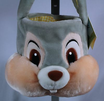 Thumper Easter Basket Plush Bunny Face Disney Store With Tag