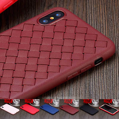 For iPhone x/10 7 8 Plus Baseus Weave Luxury Ultra Thin Slim Case Cover Soft TPU