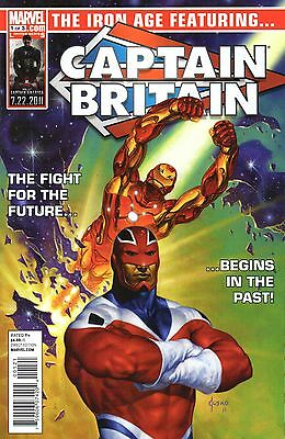 The Iron Age Comic 1 Marvel 2011 Gage Weeks Palmer feat. Captain Britain