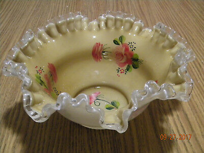 Antique Art Glass: Bride's Basket Bowl
