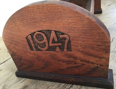 """Hand Crafted Rare Maltese Cross & 1947 Carved Solid Oak Book Trough 8"""" X 18"""""""