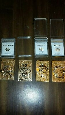 Pokemon 23 Karat Gold-Plated Cards From Burger King Promo . Lot Of 4.