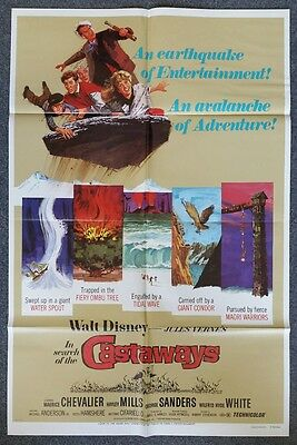 IN SEARCH OF THE CASTAWAYS - 1970 Original Folded 27x41 One Sheet Movie Poster