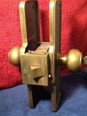 Vintage Antique Yale & Towne Monolock Heavy Cast Brass Door Set Lock Blank Key