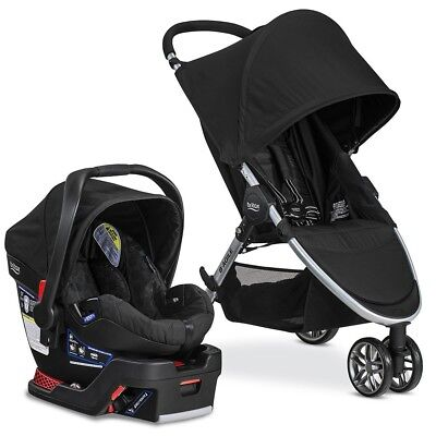 Britax 2017 B Agile B Safe 35 Travel System, Black