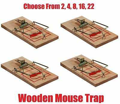 Reusable Wooden Mouse Trap Mice Rat Vermin Rodent Pest Control Mousetraps Traps