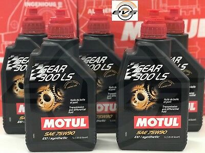 5 Lt Motul Gear 300 75W90 LS Olio Cambio Differenziale Limited Slip SINTETIC GL5