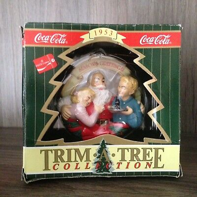 Coca Cola Trim a Tree Ornament 1996 Santa The Pause that Refreshes