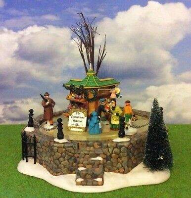 Dept 56 Dickens Village Town Square Marker ANIMATED RARE Christmas Village LN