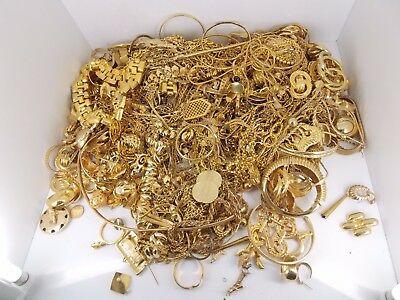 Scrap Gold Plated / Tone Jewelry For Gold Recovery 10.6 Pounds