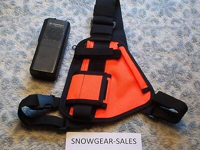 Hands Free Radio chest harness for Pro &UHF radios ORANGE  RCH 101  XXL Size