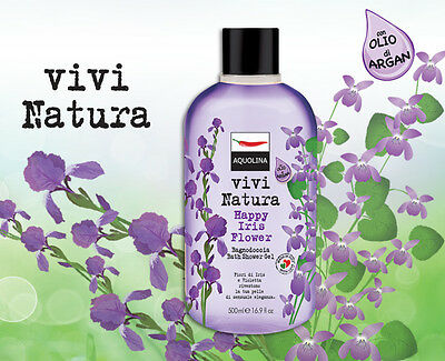 Aquolina Vivi Natura Bath Shower Gel  with Argan oil 500ml  6 fragrance