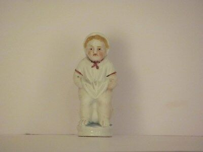 German bisque potty baby 3 1/2 inches tall
