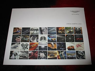 Aston Martin One-77 Db9 Virage Rapide Intera Gamma 2012 Sales Brochure Depliant