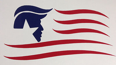 President Donald Trump Flag Decal Sticker Car Window Laptop Bumper Pence