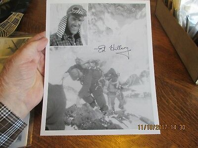 "Sir Edmund Hillary Mountaineer and Explorer.  8"" X 10"" Signed Photo"