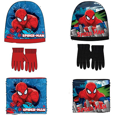 Spiderman Kinder Mütze Loop Schal Handschuhe Halssocke  Marshall Rocky Set