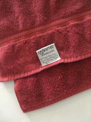 CHARISMA BY FIELDCREST BURGUNDY HAND TOWEL    made in USA