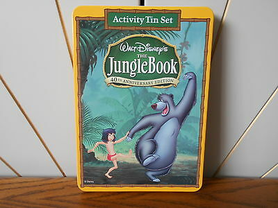 THE JUNGLE BOOK activity tin stationary set DISNEY 40th Anniversary Edition