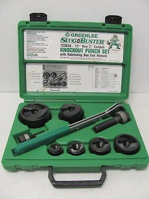 "Greenlee 7238SB Slug Buster Knockout Punch Set 1/2"" - 2"" GREAT!"