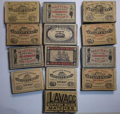Vintage lot of Matchboxes The Press, Masters,  Bryant & May, Ships,  Lavaco