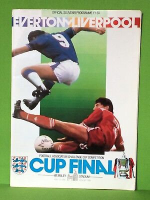 Fa Cup Final Official Programme Everton V.liverpool 10Th May 1986