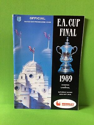 Fa Cup Final 20Th May 1989 Everton V. Liverpool...official Match Day Programme..