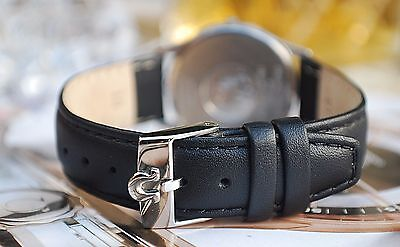 Omega Custom Black Leather 18Mm Strap For Your Vintage Watch-Best Quality!