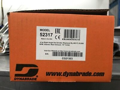 dynabrade 52317 20000 rpm right angle die grinder