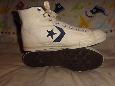 VINTAGE CONVERSE ALL STAR HIGH TOPS WHITE MADE IN USA SIZE 13 1970s
