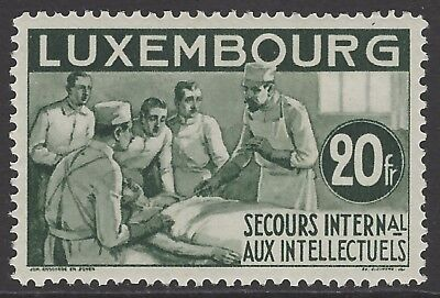 LUXEMBOURG 1935 20fr top value Relief Fund for Intellectuals, mint MLH, Mi#280