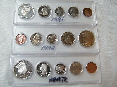 1991, 92, 93 Us Coin Sets And Misc Year Canadian Circulated Set