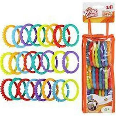 Bright Starts Lots of Links Accessory Toy 0-36 Months (24 pcs)
