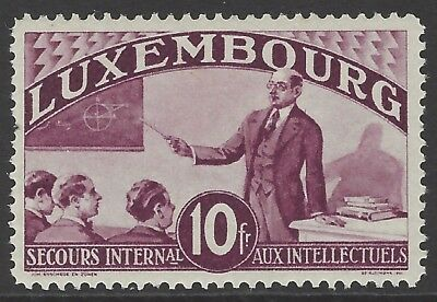 LUXEMBOURG 1935 10fr lilac Relief Fund for Intellectuals, mint MLH, Mi#279
