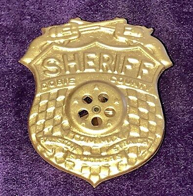 1940's Tom Mix Straight Shooters Dobie County Sheriff Ralston Cereal Badge pin