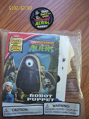 New Lowes Build And Grow Monsters Vs Aliens Robot Puppet Wood Model And Patch