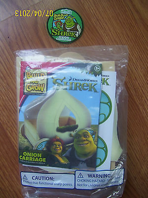 New Build And Grow Lowes Dreamwork Shrek Onion Carriage Wood Model With Patch