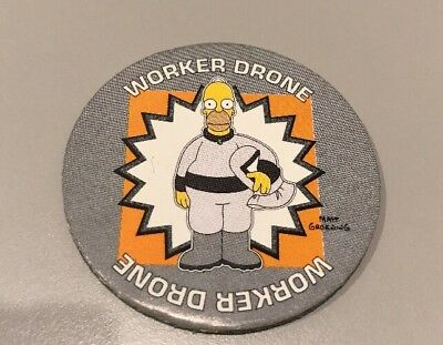 Tazos Pickers The Simpsons Rare Glow Number 22 Homer TOXIC MELTDOWN
