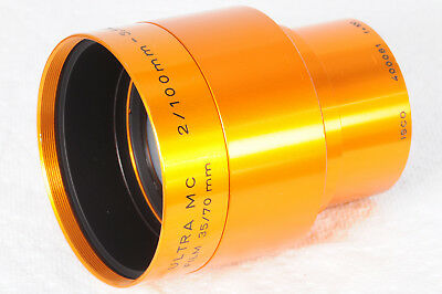 Isco Ultra MC 100mm f/2 Projection Lens for 35/70mm film Excellent 081