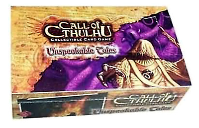 Factory Sealed Call Of Cthulhu UNSPEAKABLE TALES Booster Box CCG GGC - 36 Packs