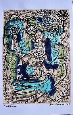 ART SINGULIER ART BRUT, KABIAN  peinture, ABSTRACT  40x30