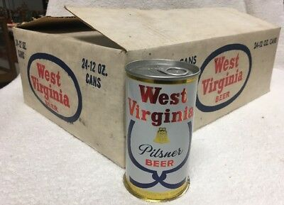 Factory Shutdown Unopened unfilled Huntington WV Beer Cans in Original box Case