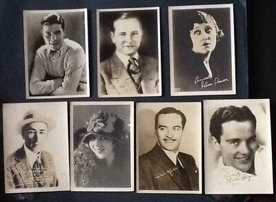 "Lot of 7 1920's-30's Vintage Fan Photo B&W 5"" x 7"" Swanson, Hale, copy signed #1"