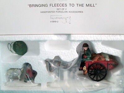 Dept 56 Bringing Fleeces To The Mill Dickens 2 Pc Accessory Set 5819-0 + Box