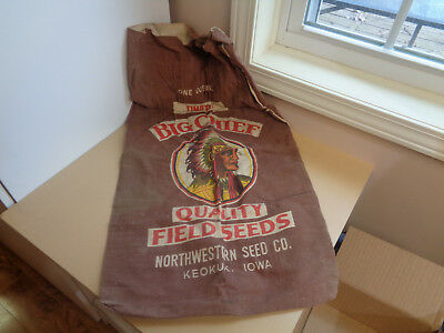 Vintage Northwestern Seed Co. Sack-American Indian Big Chief-Keokuk Iowa