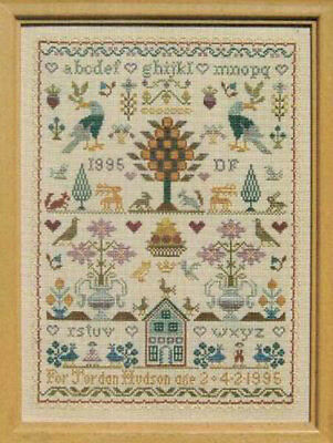 BIRTHDAY TRADITIONAL SAMPLER Moira Blackburn Cross Stitch Pattern