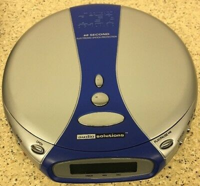 (J38) Audio Solutions #C17H2204 Portable CD Player w/ 60 Second Anti-shock