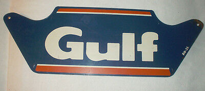 """1950s Vintage GULF GAS STATION Old Gulf Tire Display --22"""" Tin Sign"""