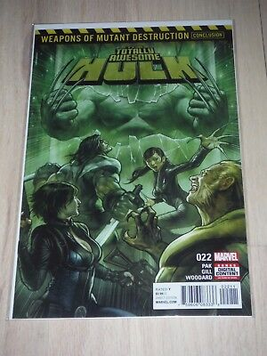 TOTALLY AWESOME HULK #22 WMD 1ST Appearance of WEAPON H Hulk & Wolverine Hyrbid