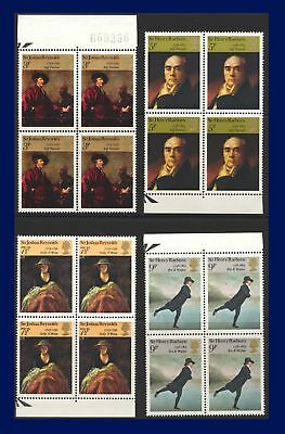 1973 SG931-934 3p-9p Paintings Set (4) Marginal Block of 4 MNH afzg